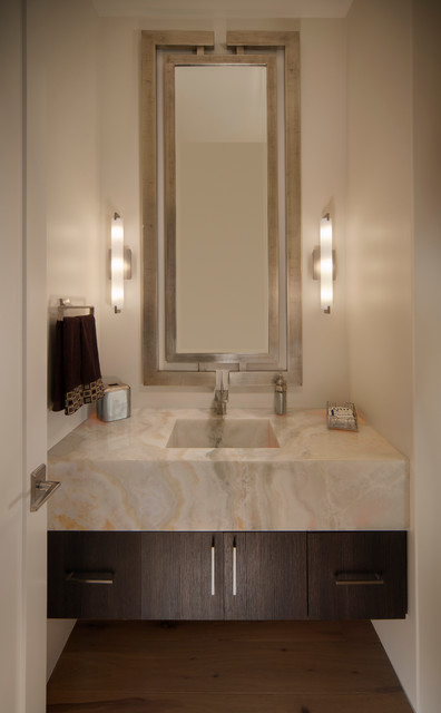 Spina Residence contemporary-powder-room