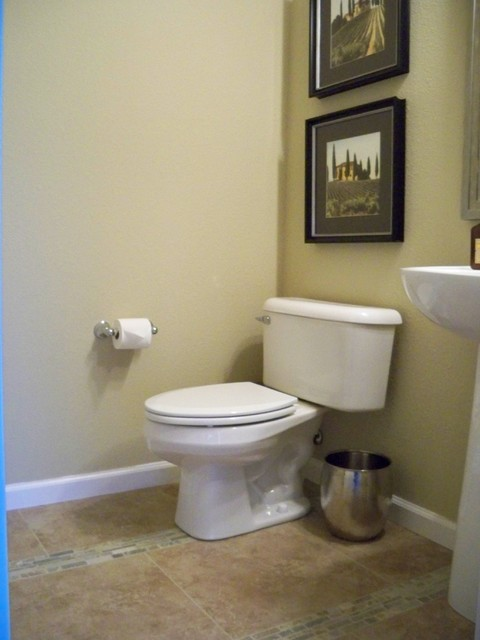 Simple Updated Powder Room Modern Powder Room San