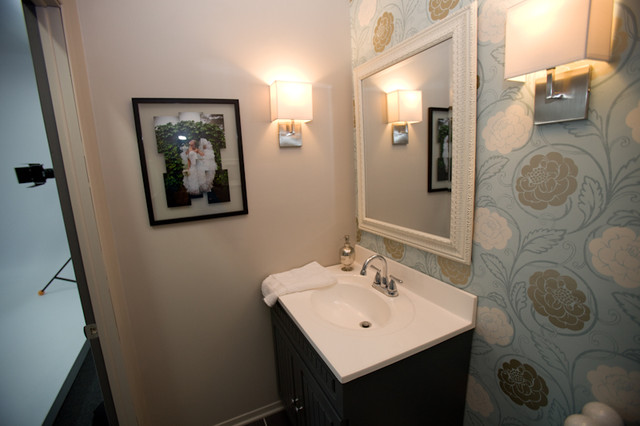 Small bathroom contemporary-powder-room