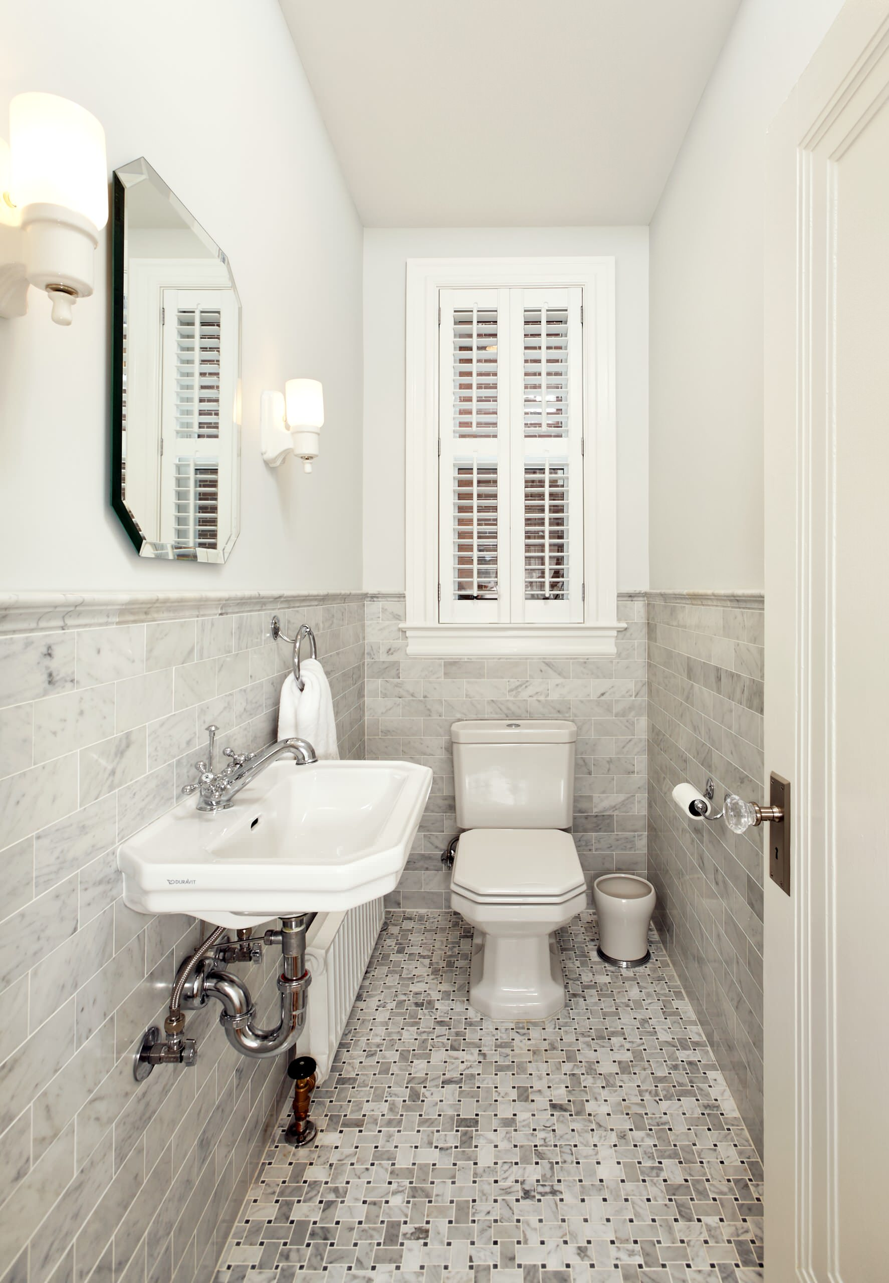 75 Beautiful Powder Room With A Wall Mount Sink Pictures Ideas April 2021 Houzz