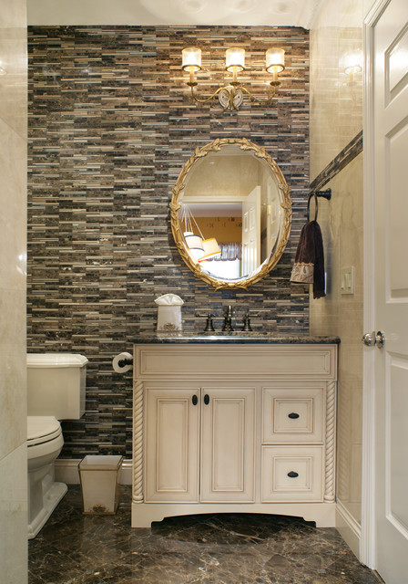 Small powder room traditional powder room other for Small vanity for powder room