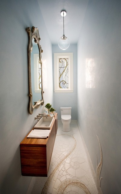 Small Powder Room victorian-powder-room