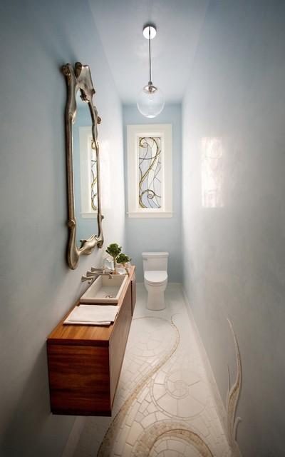 Small Powder Room contemporary-powder-room
