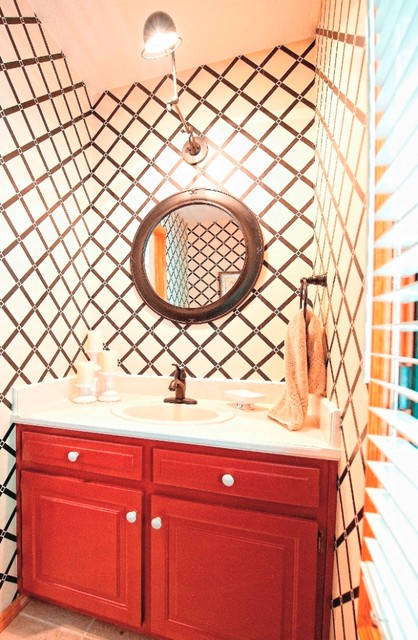 Snyder Lake House eclectic-powder-room