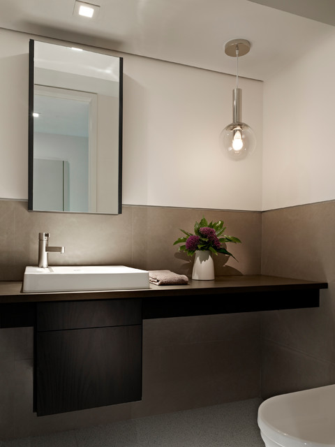 Society Hill Townhouse Contemporary Powder Room