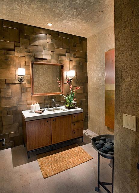 Southwest ranch for Bathroom designs cork
