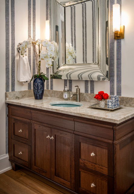 Spyglass Traditional Powder Room