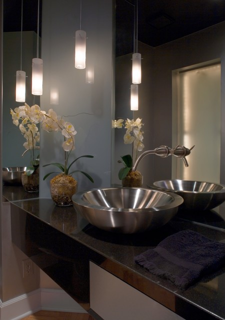 St. Louis Residence contemporary-powder-room