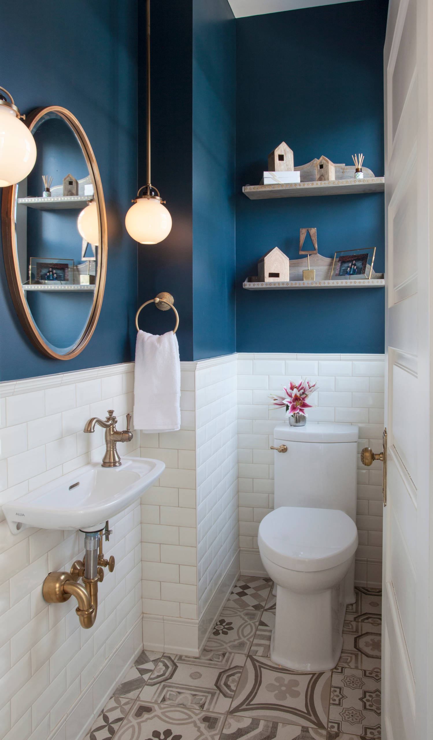 75 Beautiful Ceramic Tile Powder Room Pictures Ideas February 2021 Houzz