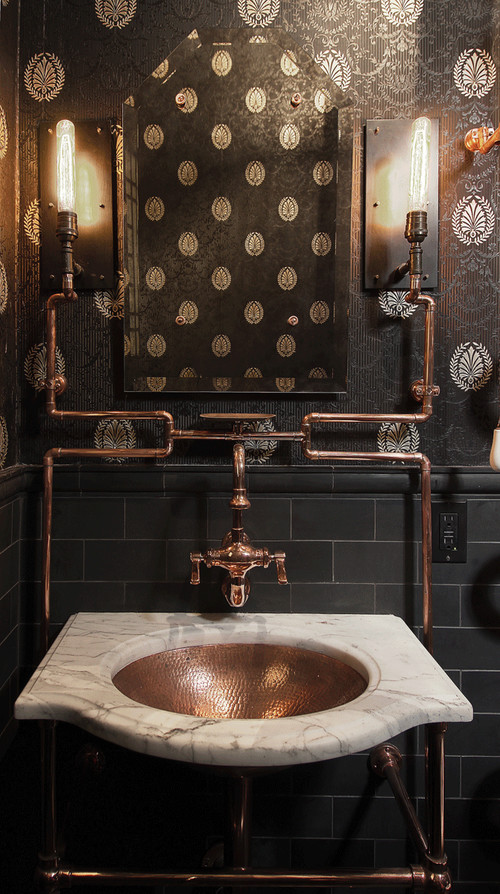 copper bathroom