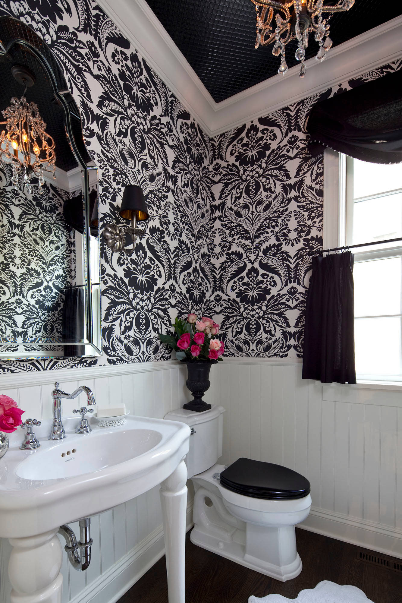Black And White Wallpaper Ideas Houzz