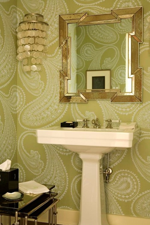 anybody decide to wallpaper your bathroom?