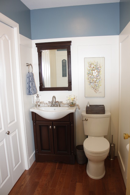Sweet English Cottage Makeover Traditional Powder Room