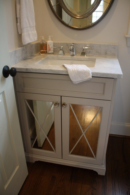 Sweet Little Powder Traditional Powder Room Charlotte By Hardwood Creations