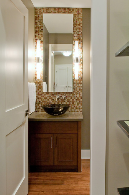 Teevan Residence contemporary powder room