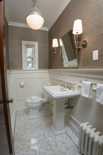 Tenafly Nj Powder Room Transitional Powder Room New