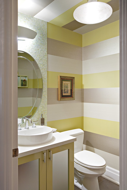 Contemporary Powder Room by Shelley Kirsch Interior Design and Decoration