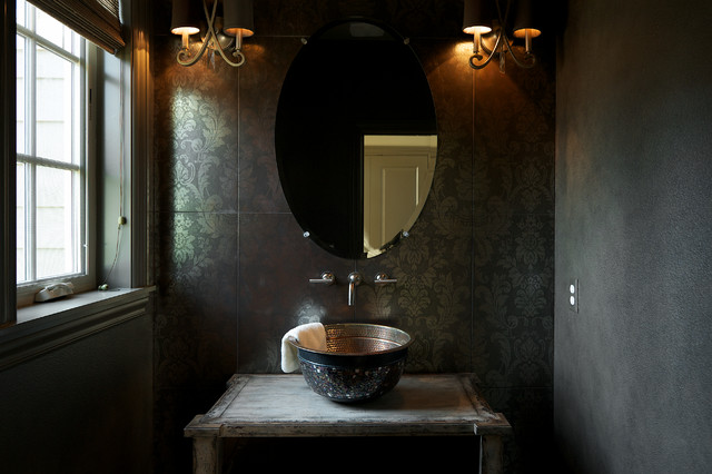 'The Columbia' Residence transitional-powder-room