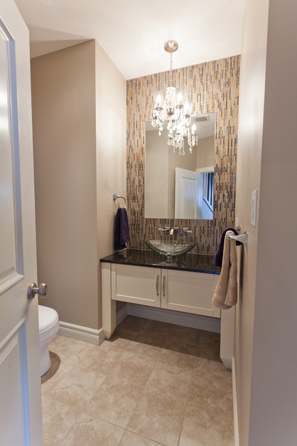 The Lancaster contemporary powder room
