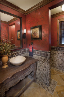 The Overlook At Heritage Hills Mediterranean Powder Room Denver By Celebrity Communities