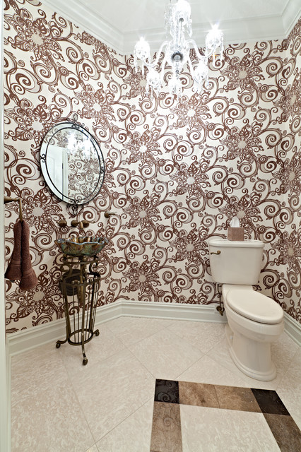 The Rodgers traditional powder room