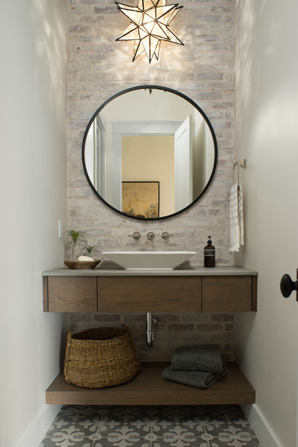 The West Hampton Beach Style Powder Room