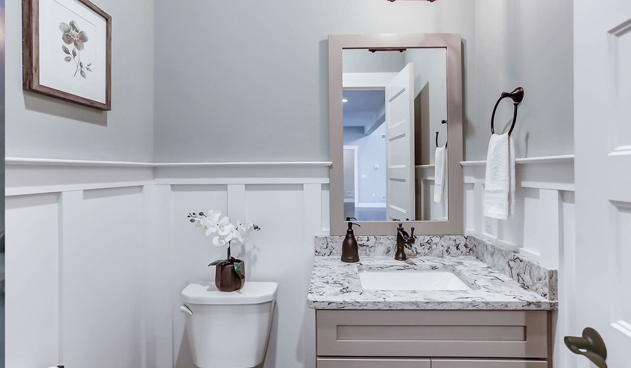 75 Beautiful Powder Room With Gray Cabinets Pictures Ideas February 2021 Houzz