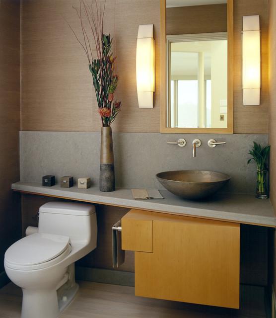 Tiburon Contemporary Powder Room contemporary-powder-room