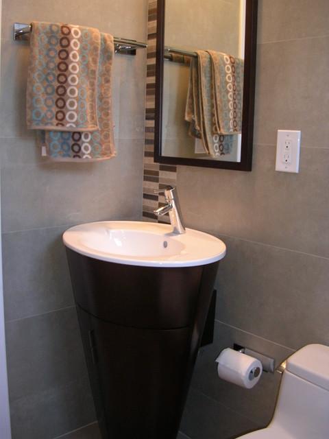 Tiny Bath in Palo Alto, CA contemporary-powder-room