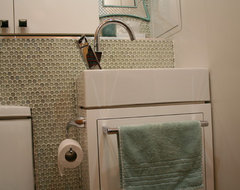 Tiny laundry/powder room contemporary-
