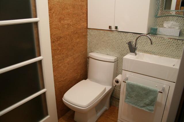 Tiny Laundry Powder Room Contemporary Powder Room