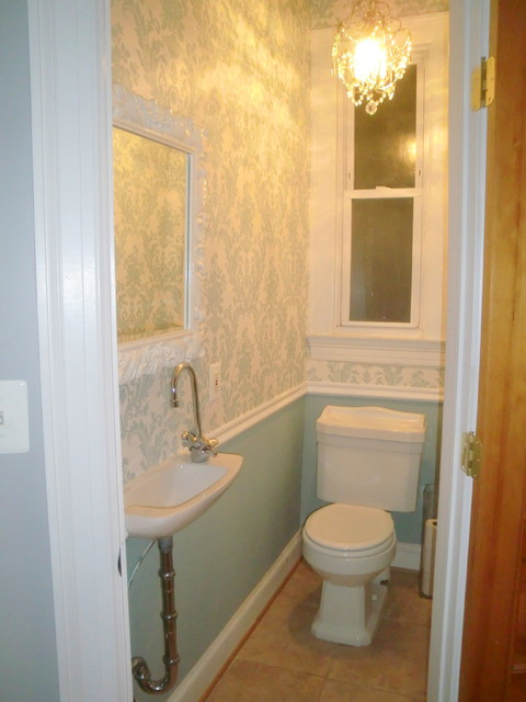 Tiny powder room powder room dc metro for Very small space bathroom design