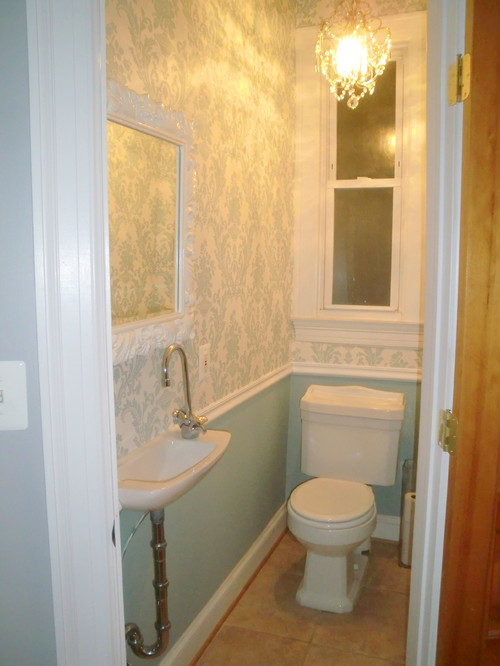 Bathroom design ideas for half bathrooms home decorating - Tiny powder room ideas ...