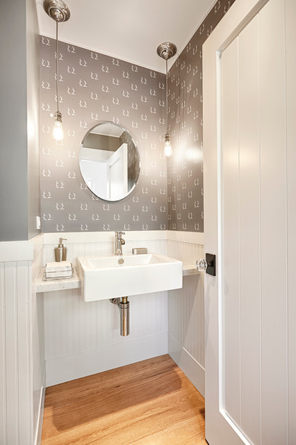 Today's Vintage Farmhouse - Farmhouse - Powder Room - san francisco - by Decker Bullock Sotheby ...