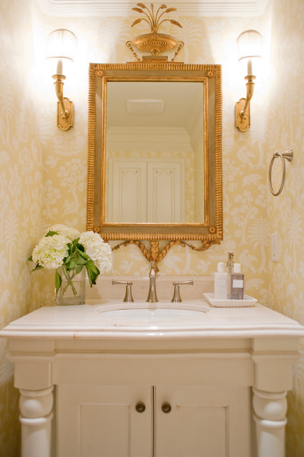 Town and Country traditional-powder-room