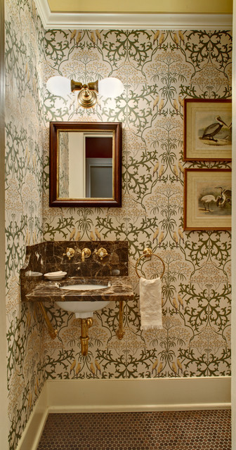 Tracey Stephens Interior Design Inc traditional powder room