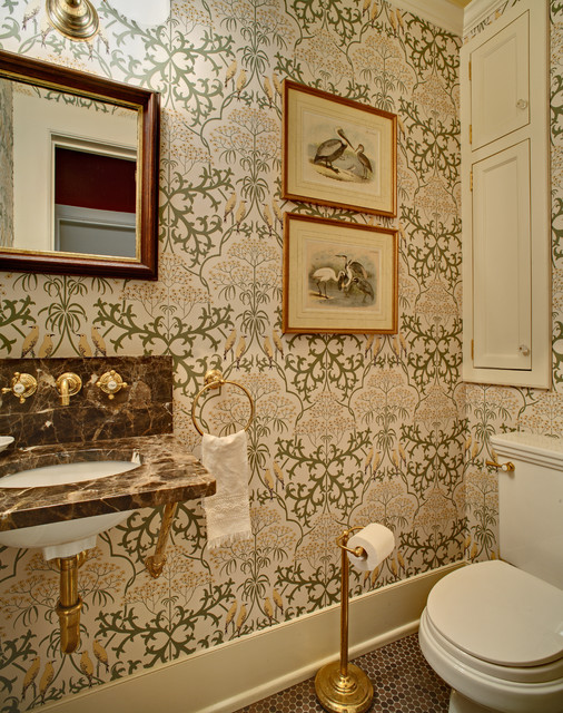 Tracey Stephens Interior Design Inc traditional-powder-room