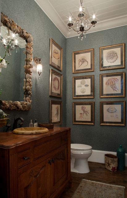 Coastal Chic Traditional Powder Room Jacksonville
