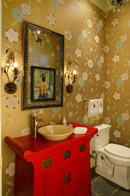 Traditional Eclectic eclectic-powder-room
