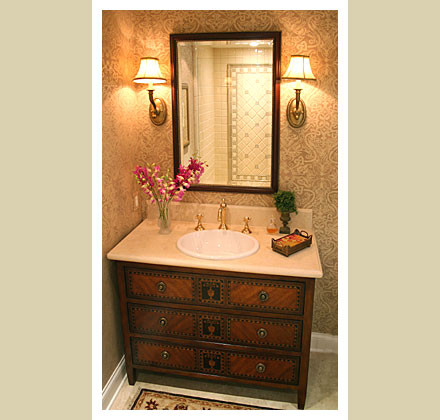 interior design by Norman Design Group: Phil Norman, ASID CID - Bathroom traditional powder room