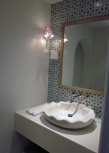 Transitional-Eclectic transitional-powder-room
