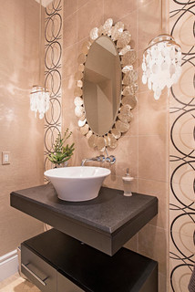 Transitional Project 1 - Contemporary - Powder Room - Miami - by Interiors By Agostino's