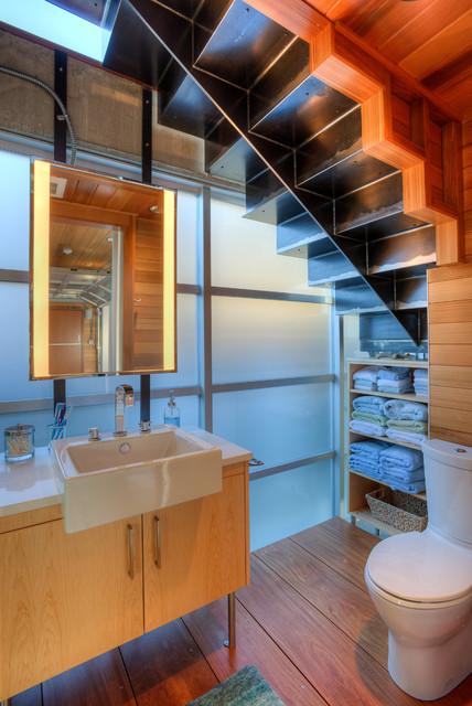 Cabana bath. contemporary-powder-room