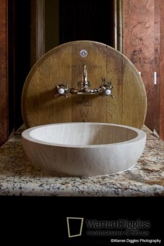 Tuscan Sink mediterranean-powder-room