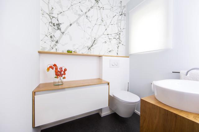 Raumgestalter Berlin umbau gästebad minimalistisch gästetoilette frankfurt am