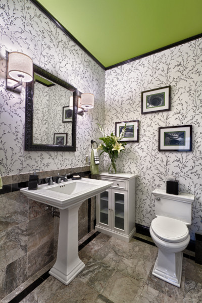 Updated Classic Powder Room contemporary-powder-room