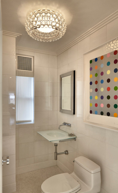 Upper East Side Apartment Contemporary Powder Room