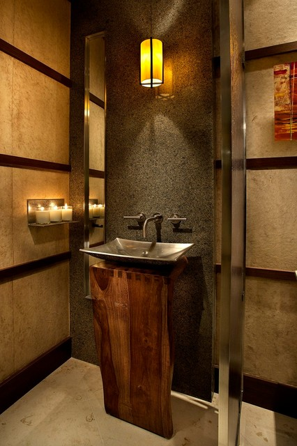 Urban Luxury - Tonto Verde contemporary-powder-room