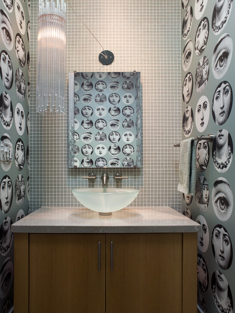 Urban Ranch eclectic-powder-room