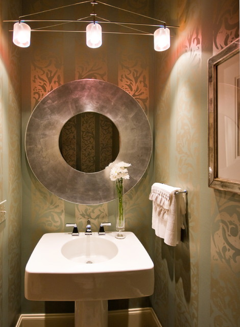 Inspirational Contemporary Powder Room by LORRAINE G VALE Allied ASID